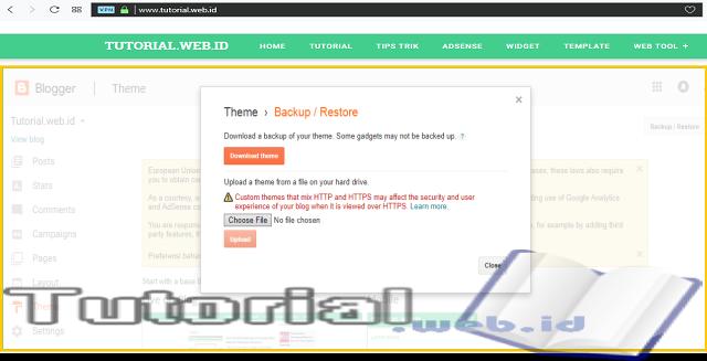Cara Mudah Backup Template Blogger atau Blogspot Bagi Pemula