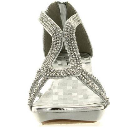cdd53b29574 Delicacy Angel 36 Women Dress Sandals Rhinestone Platform Pumps Wedding  Bridal Low Heel SNJ Shoes picture 3