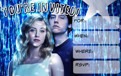 free printable Riverdale party invitations