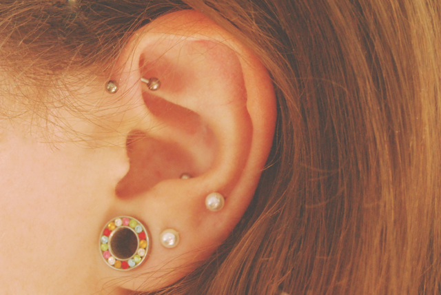 Becky Bedbug My Forward Helix Piercing One Month On
