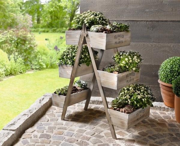 14 Θαυμάσιες ιδέες για χρήση παλαιάς σκάλας στον κήπο σας