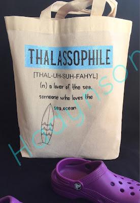Tygväska 2 med tryck, Thalassophile