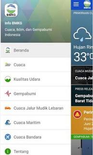 Download Aplikasi BMKG Android Terbaru Update Gratis Prakiraan Cuaca Terkini
