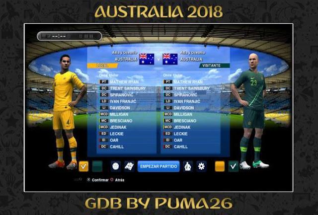 Australia 2018 Kit PES 2013