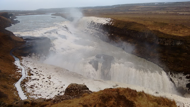 wodospad Gullfoss, Islandia wodospad