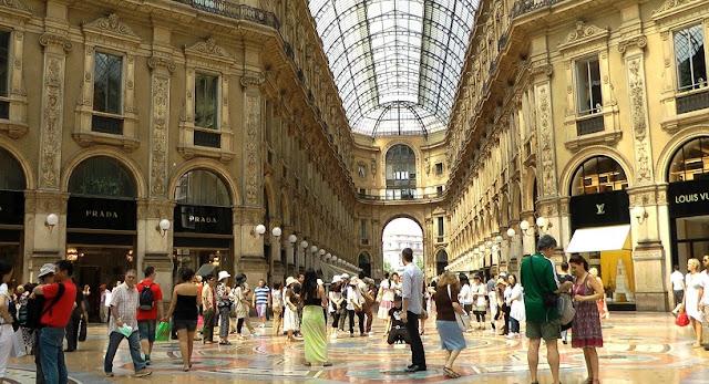 Pouco tempo de viagem em Milão