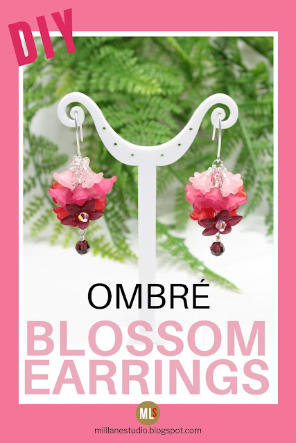 DIY Ombré Blossom Earrings inspiration sheet.