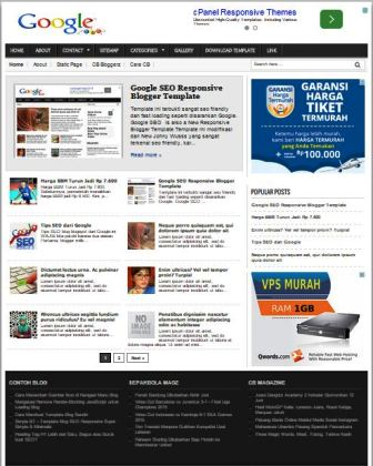 Google SEO Blogger Template