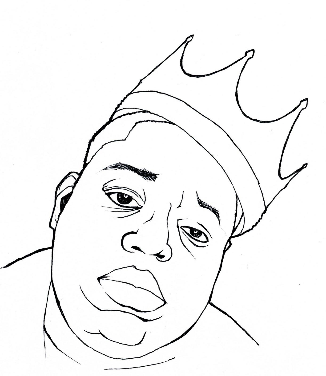 Moar Art Notorious B I G Caricature