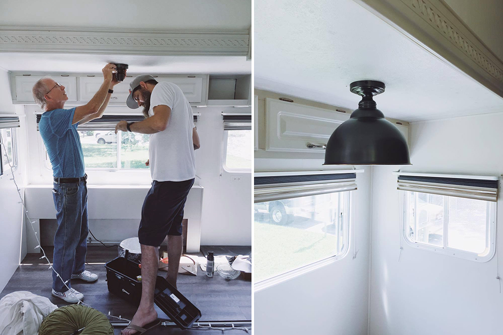 pottery barn rv lighting hack