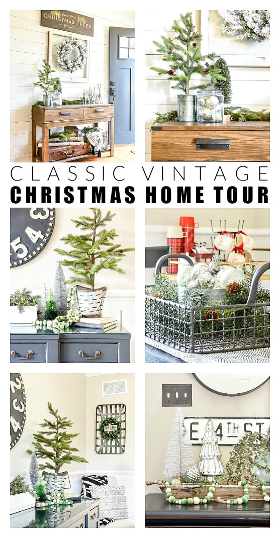 Neutral and classic vintage Christmas home tour