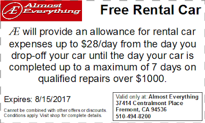 Coupon Free Rental Car July 2017