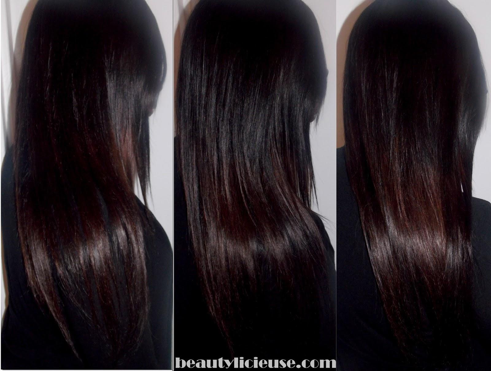 Couleur cheveux noir reflet cerise