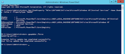 Example of running PowerShell script