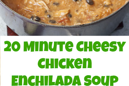 20 Minute Cheesy Chicken Enchilada Soup