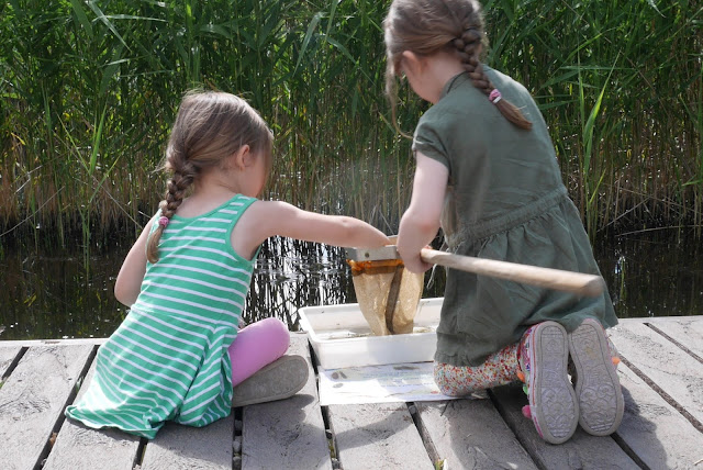 the girls pond dipping