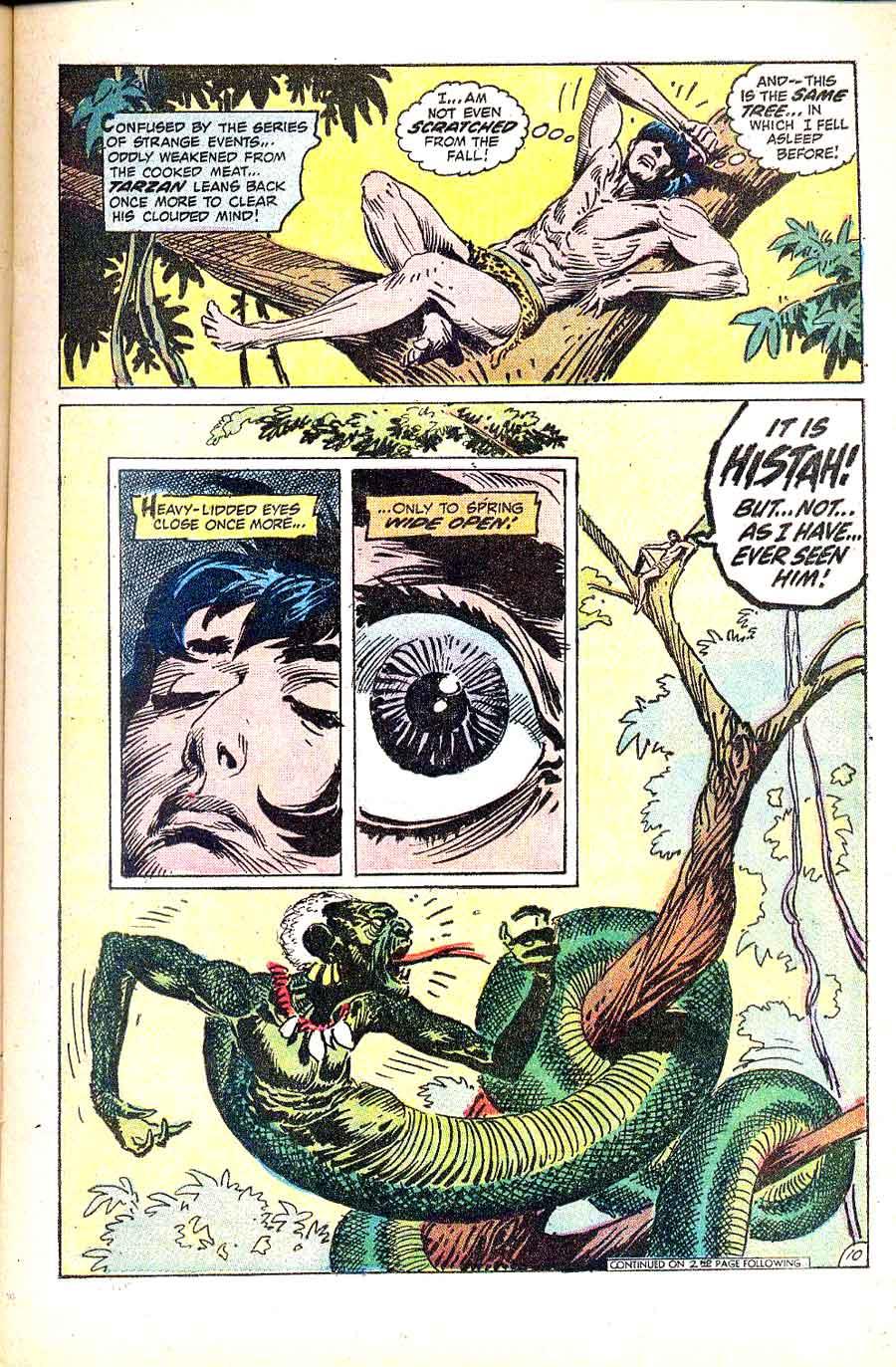 Tarzan v1 #214 dc comic book page art by Joe Kubert