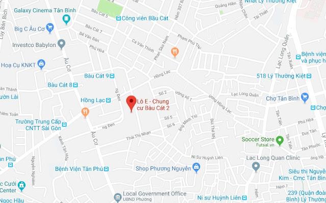 Bán shophouse tầng trệt chung cư Bàu Cát 2 quận Tân Bình