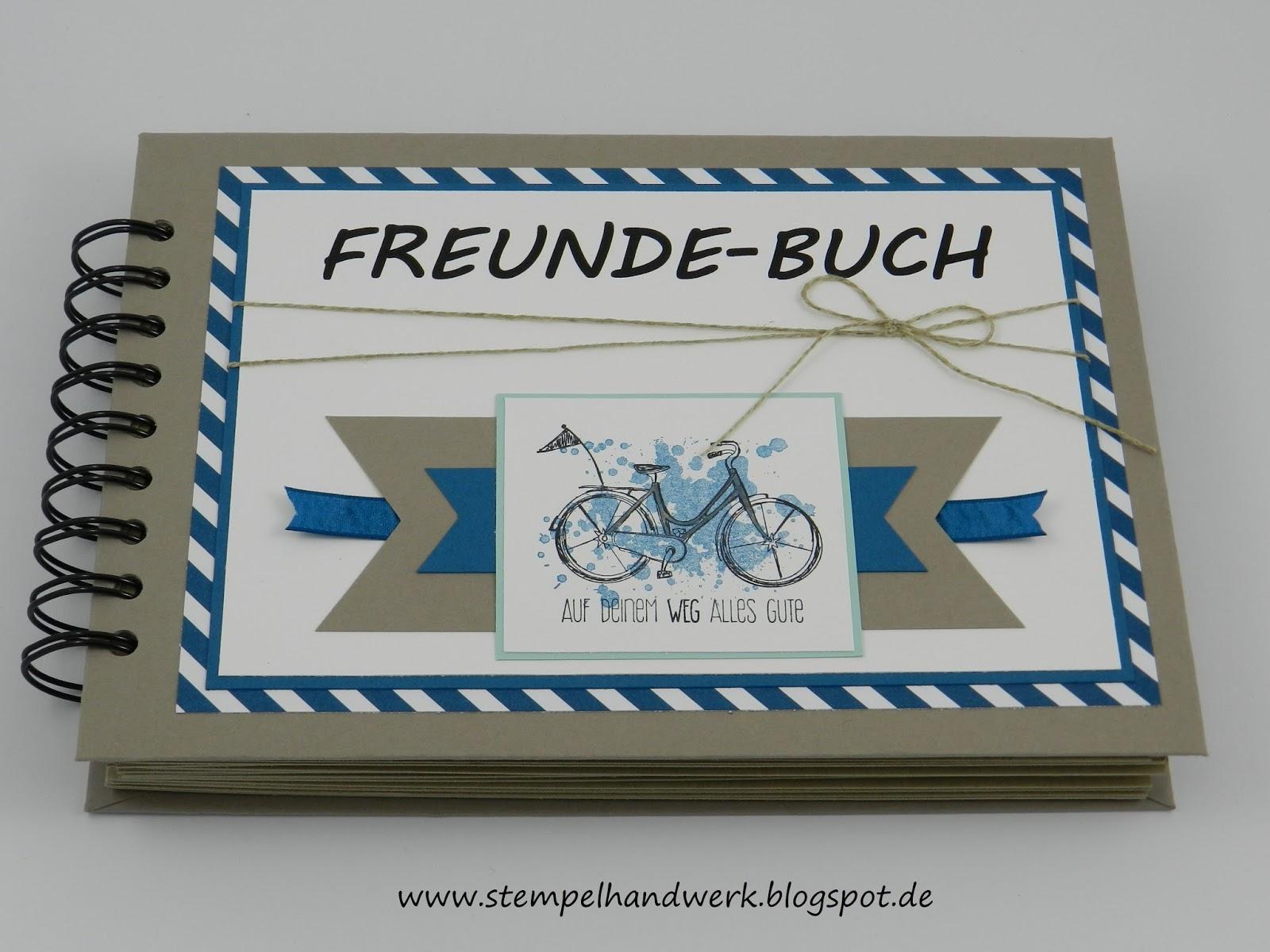 Stempelhandwerk Ein Freundebuch Zum Abschied In Den Ruhestand