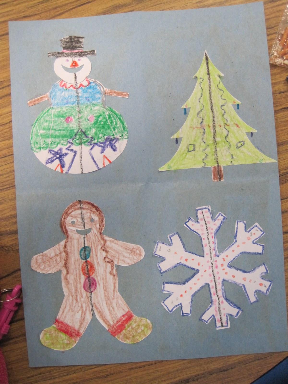 Savvy Second Graders Christmas Symmetry