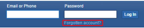 Facebook Login Forget Password