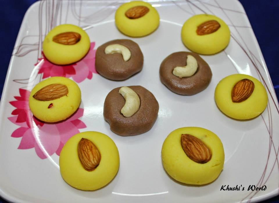 Khushi's World Kesar Peda & Chocolate Peda