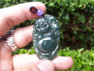 Liontin Giok Jadeite Jade Type A JDT006 Imperial Jade Burma Memo DGL