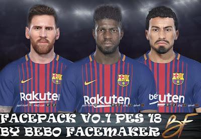 PES 2018 FC Barcelona Facepack