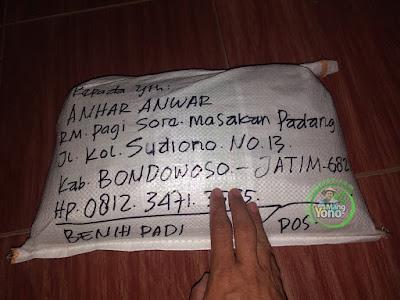 Benih Padi TRISAKTI Pesanan    ANHAR ANWAR Bondowoso, Jatim.  (Sesudah di Packing)