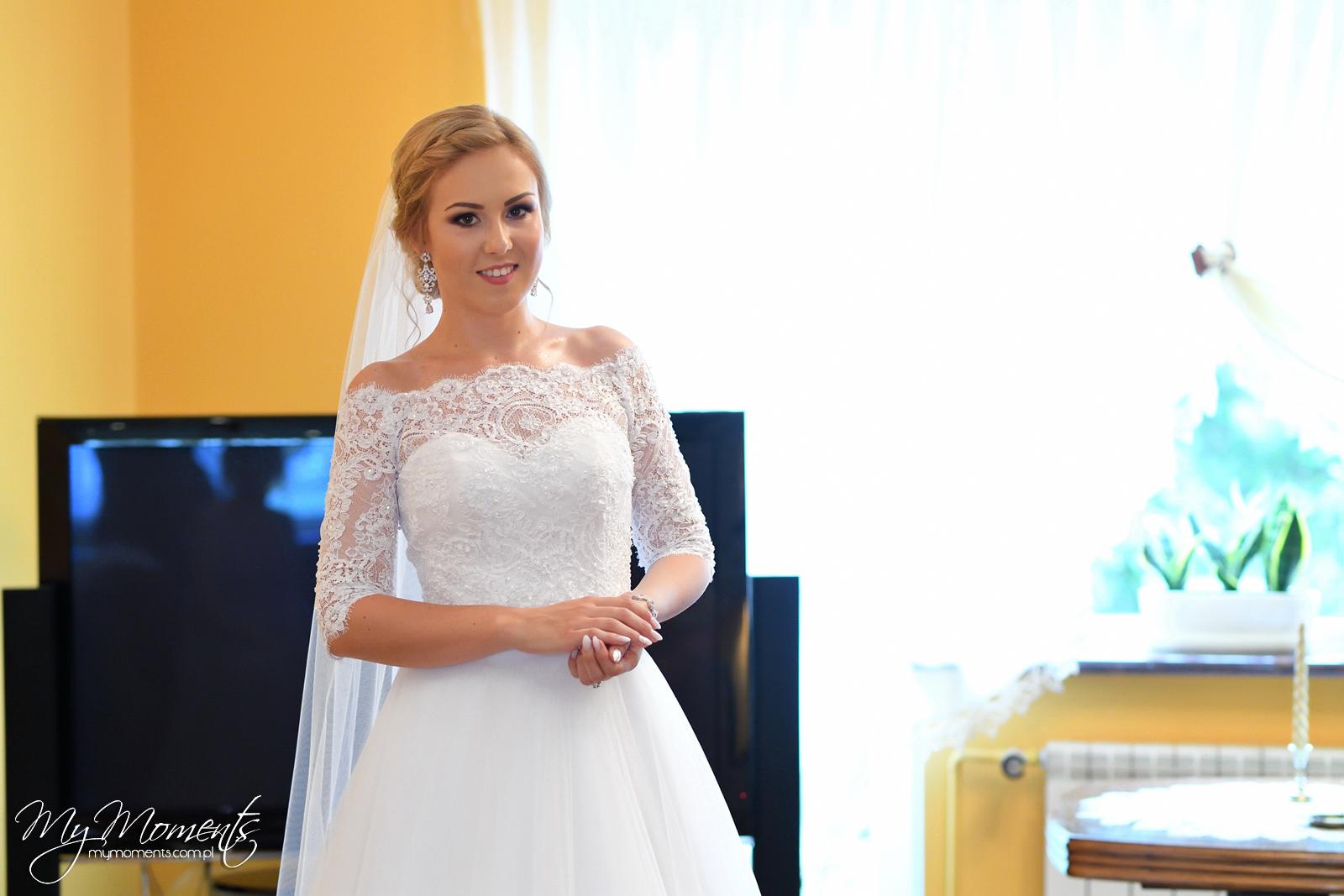 Mowmimoniska Suknia ślubna Hiszpański Dekolt Odkryte Ramiona