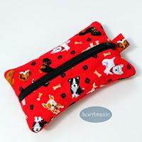 Dog Lovers Pocket Tissue Holder, Travel Tissue Case
