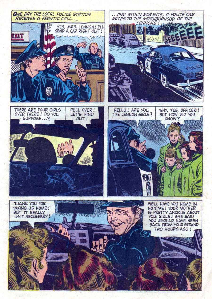 Lennon Sisters Life Story / Four Color Comics #951 - Alex Toth dell 1950s comic book page art