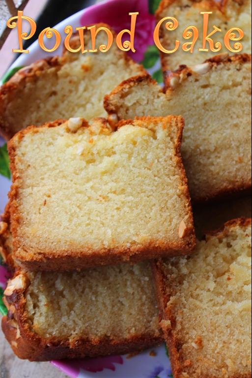 Eggless Pound Cake Yummy Tummy