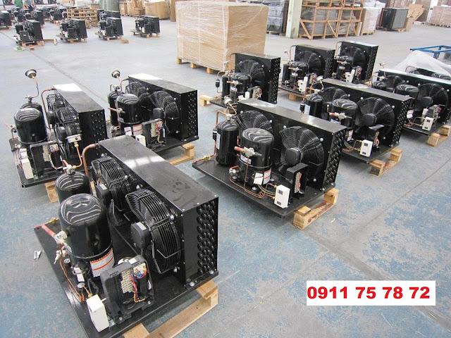 Lắp đặt cụm máy nén Techcumseh 3hp,5hp,6hp,10hp,12hp,15hp