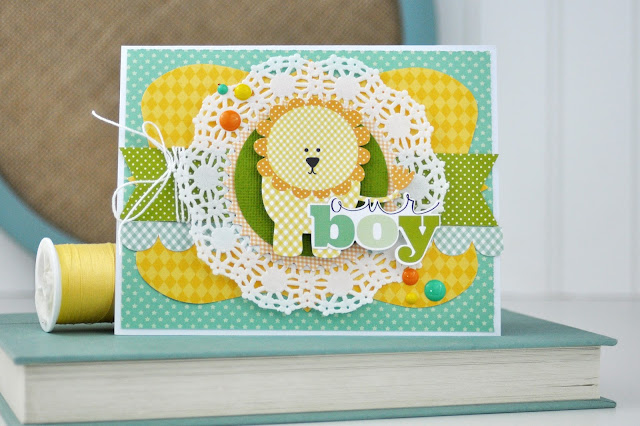 Baby Boy Card Making Video with Jen Gallacher for SCT Magazine. #cardprocess #cardmaking #papercrafts