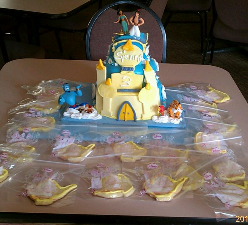Creative Cakes Jasmine And Aladdin Castle Cake And Cookies
