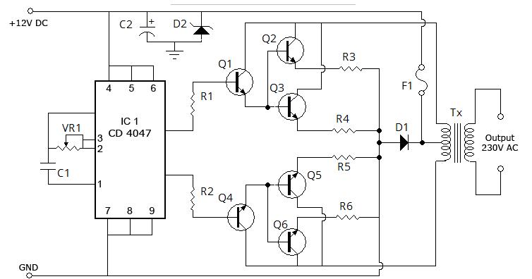 100 watt inverter schematic diagram