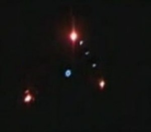 Example Of Military Or Other Surveillance Drone At Night