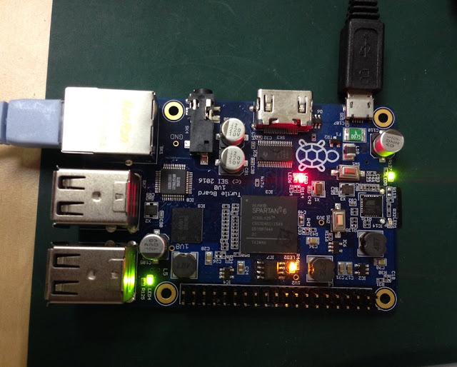 Turtle Board testada com o FPGA