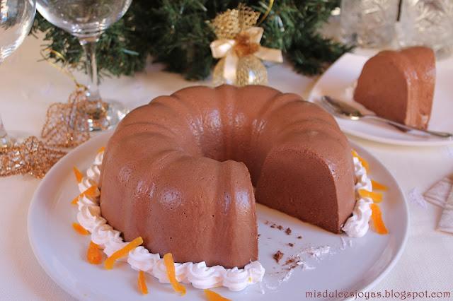 Bavaroíse de chocolate