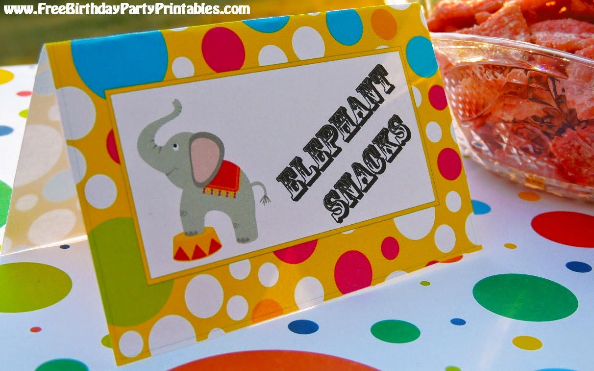 Circus Birthday Party Tent Card Printables