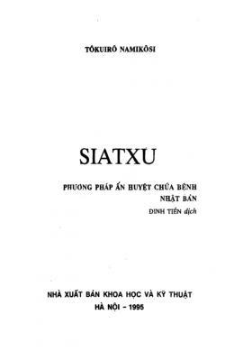 Ấn huyệt Nhật Bản Siatxu - Tokuiro Namikosi