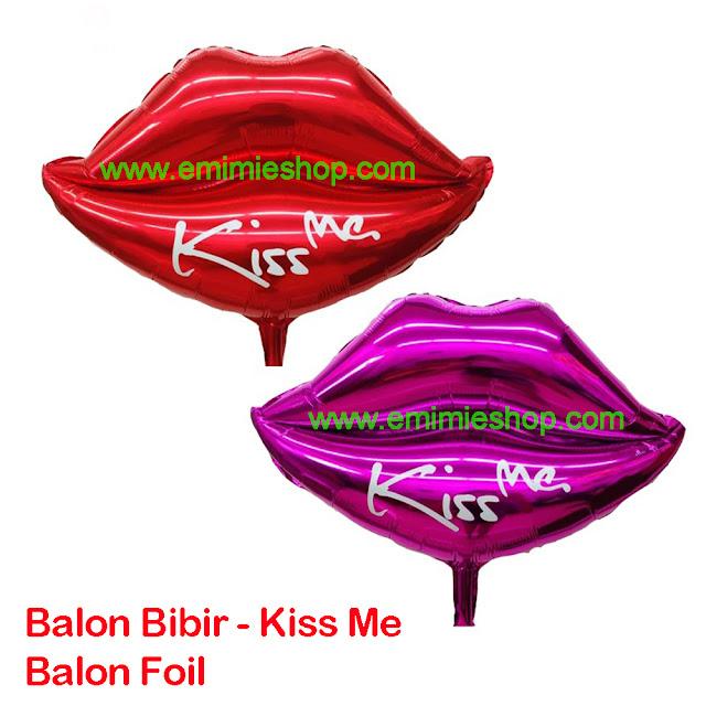 Balon Bibir Kiss Me
