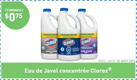 3 50 en coupons clorox coupons au qu bec - Eau de javel concentree ...