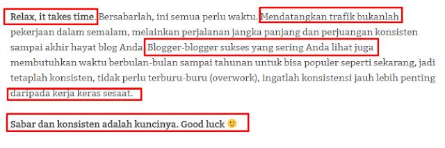 Edit artikel copas tadi dibagian akhir paragraf