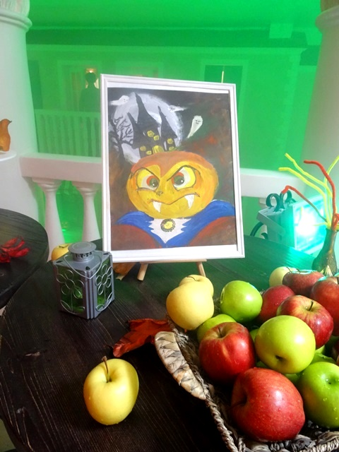 painting of Pumpkin Dracula