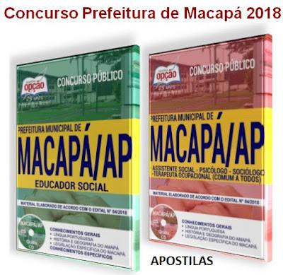 Prefeitura de Macapá - CONCURSO PÚBLICO ASSISTÊNCIA 2018