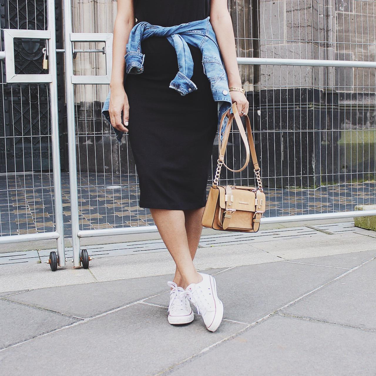 how to wear black dress, black in summer, pencil dress style, wear trends, style trends