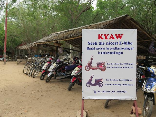 Alquiler de Bicicletas y Motocicletas en Bagán