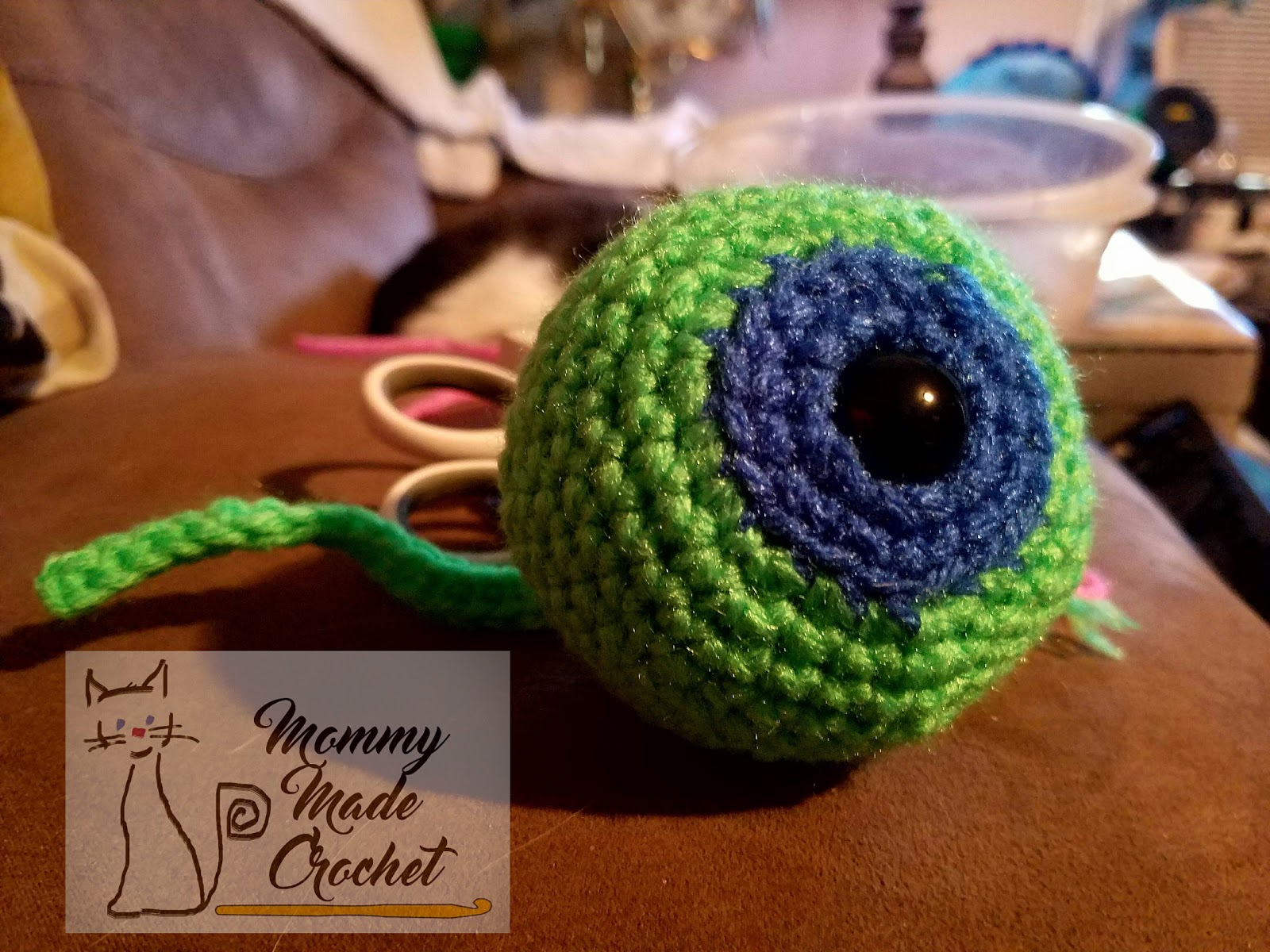 A Septic Eye mommy made crochet: septic eye sam - free crochet pattern
